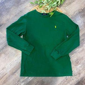 Polo Ralph Lauren boys green long sleeve shirt L
